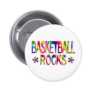 BASKETBALL ROCKS 6 CM ROUND BADGE