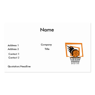 basketball score graphic business cards