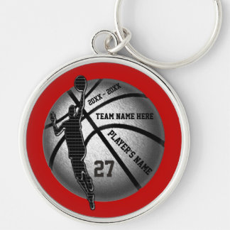 Basketball Senior Gifts Personalized, Team Colors Key Ring