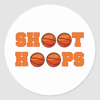 Basketball Shoot Hoops T-shirts and Gifts Classic Round Sticker