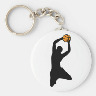 basketball silhouette keychain