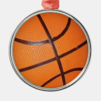 Basketball Silver-Colored Round Decoration