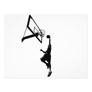 Basketball Slam Dunk Silhouette 21.5 Cm X 28 Cm Flyer