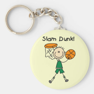 Basketball Slam Dunk T-shirts and Gifts Key Ring