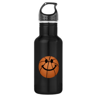 Basketball smiley face 532 ml water bottle
