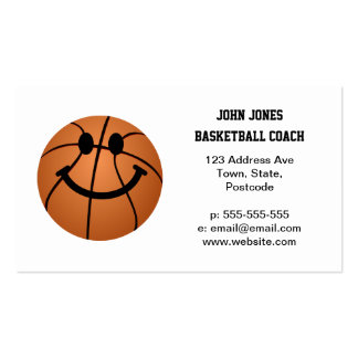 Basketball smiley face business card templates
