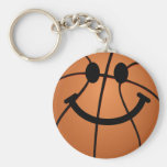 Basketball smiley face key chains