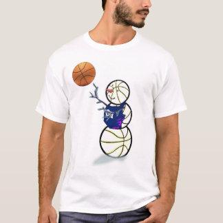 Basketball Snowman Christmas T-Shirt