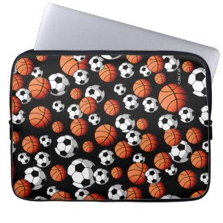 Basketball & Soccer Laptop Sleeve