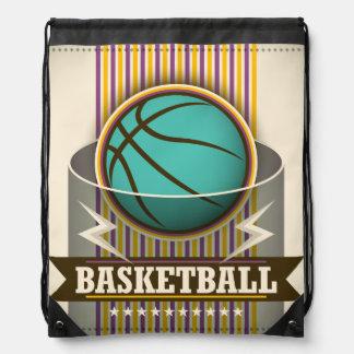 Basketball Sport Ball Game Cool Drawstring Bags