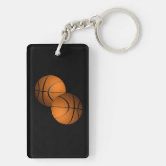 Basketball Sport Double-Sided Rectangular Acrylic Key Ring
