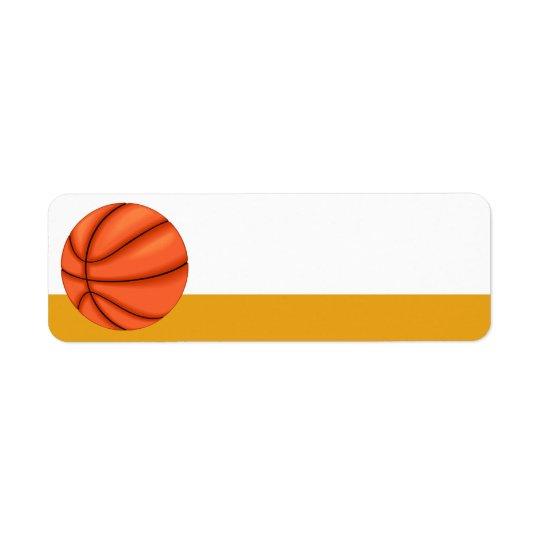 Basketball Sport Label Return Address Label