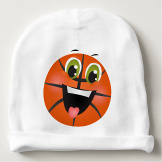Basketball Sports Funny Cute Orange Athlete Baby Beanie