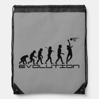 Basketball Sports Grey Drawstring Bag