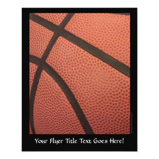 Basketball Sports Image Custom Flyer