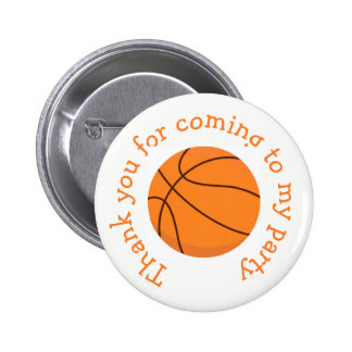 Basketball Sports Orange 'Thank you for coming' 6 Cm Round Badge
