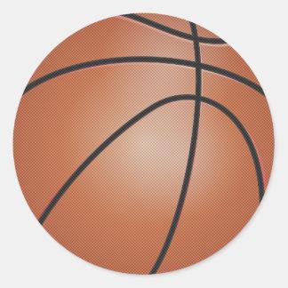 Basketball Sports Round Sticker