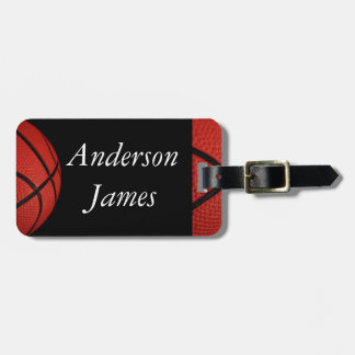 Basketball Sports Team Personalized pillow Luggage Tag