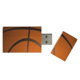 Basketball Sports Theme Wood USB 2.0 Flash Drive