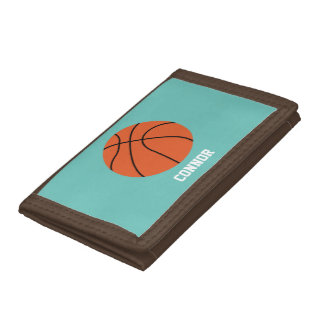 Basketball Sports-Themed Kids Trifold Wallet