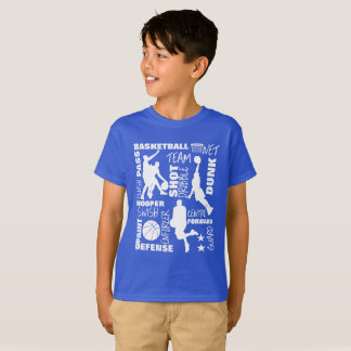 Basketball Sports Themed Terminology Typography T-Shirt