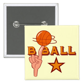 Basketball Star T-shirts and Gifts 15 Cm Square Badge