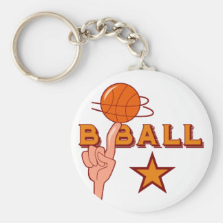 Basketball Star T-shirts and Gifts Basic Round Button Key Ring