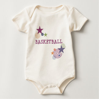 Basketball Stars and Swirls Baby Bodysuit