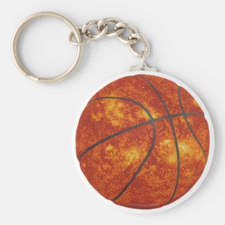 Basketball Sun Basic Round Button Key Ring