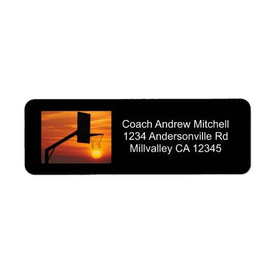 Basketball Sunset Return Address Label