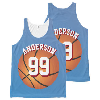 Basketball Super Fan Fantasy League Team All-Over Print Singlet
