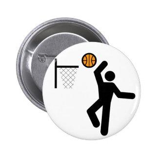 Basketball Symbol Button