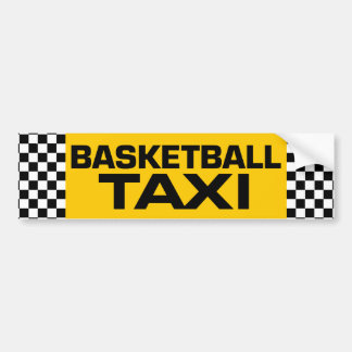 Basketball Taxi Bumper Sticker