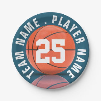 Basketball Team 7 Inch Paper Plate