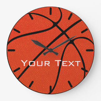 Basketball Team Custom Text Wall Clock