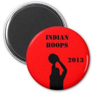 Basketball team magnet