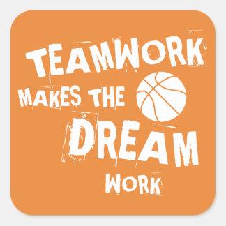Basketball Teamwork Sticker