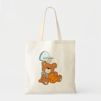 Basketball Teddy Bear Tote Bag