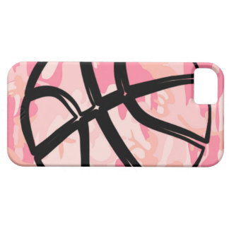 Basketball Teen Girls College Sport Pink Camo iPhone 5 Cover