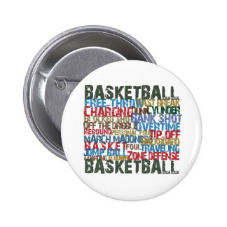 BASKETBALL TERMS gifts 6 Cm Round Badge