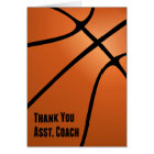 Basketball Thank You Assistant Coach, Blank Inside Card
