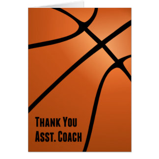 Basketball Thank You Assistant Coach, Blank Inside Note Card