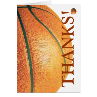Basketball Thank You Card