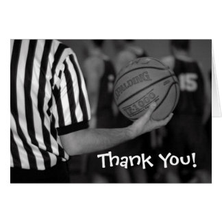 basketball, Thank You! Card