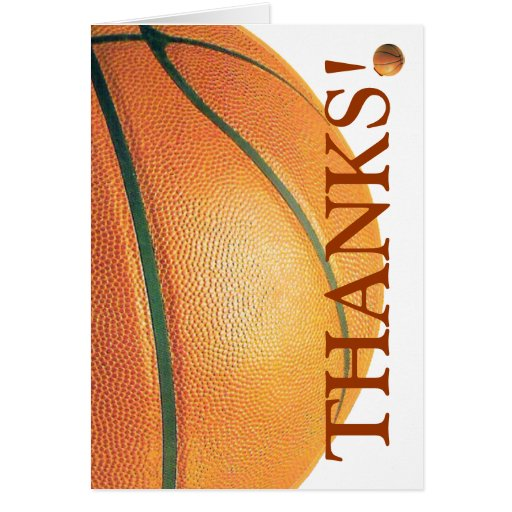 Basketball-Thanks! Greeting Cards
