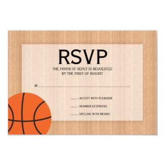 Basketball Themed Bar Mitzvah RSVP 9 Cm X 13 Cm Invitation Card