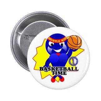 Basketball Time 6 Cm Round Badge
