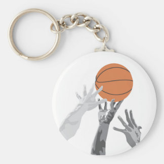 Basketball Tip Off T-shirts and Gifts Basic Round Button Key Ring