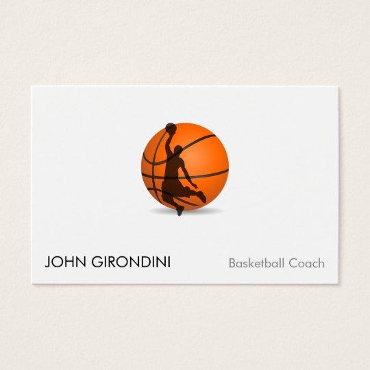 Basketball trainer coach modern trendy uv gloss business card basketball trainer coach modern trendy uv gloss business card colourmoves