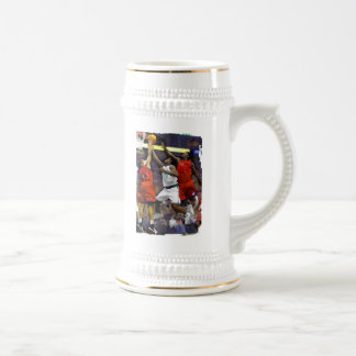 Basketball Two Against One Coffee Mug